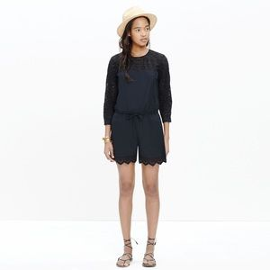 Madewell Eyelet Bistro Romper NWT